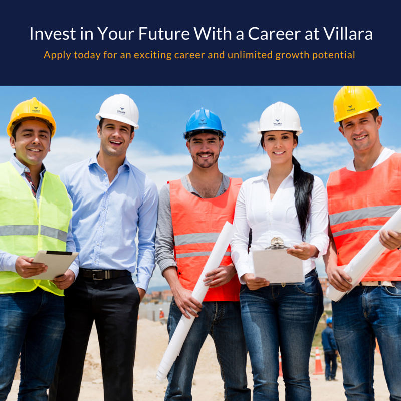 Invest in Your Future With a Career at Villara